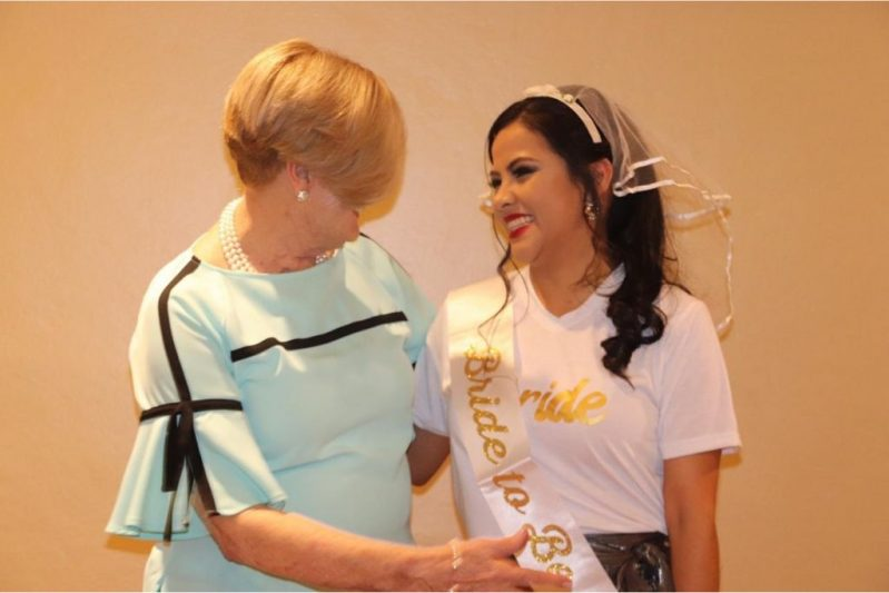 Diana (the founder of Our Little Roses) and an Alumna before her wedding way