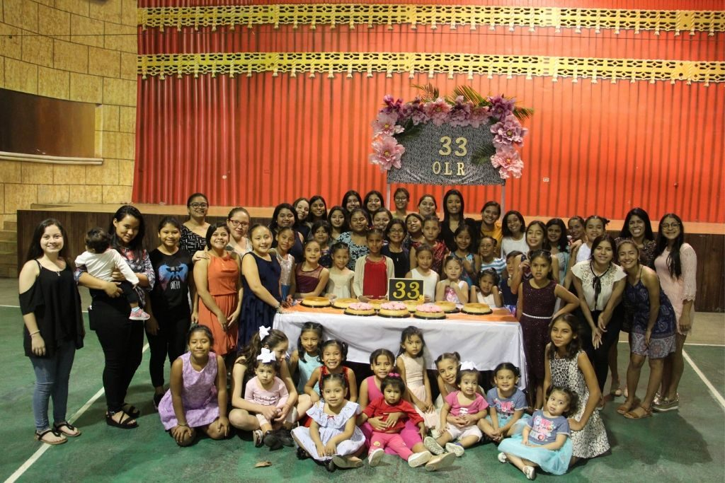 The girls of Our Little Roses gathered at a special event