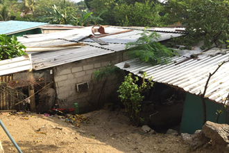 A home of an impoverished family in Honduras