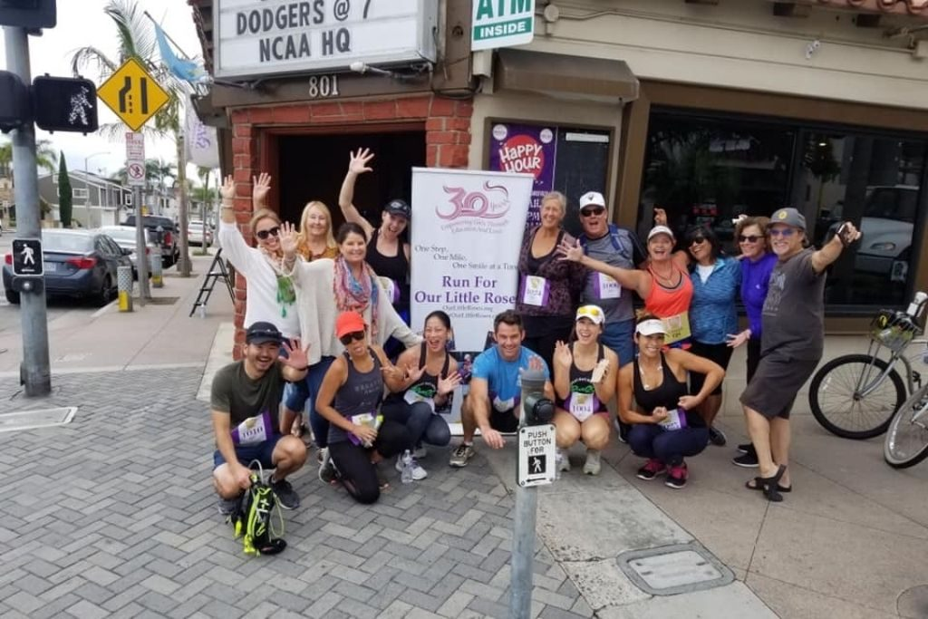 Run for Our Little Roses, an annual run (2019) organized by one of our supporters in California