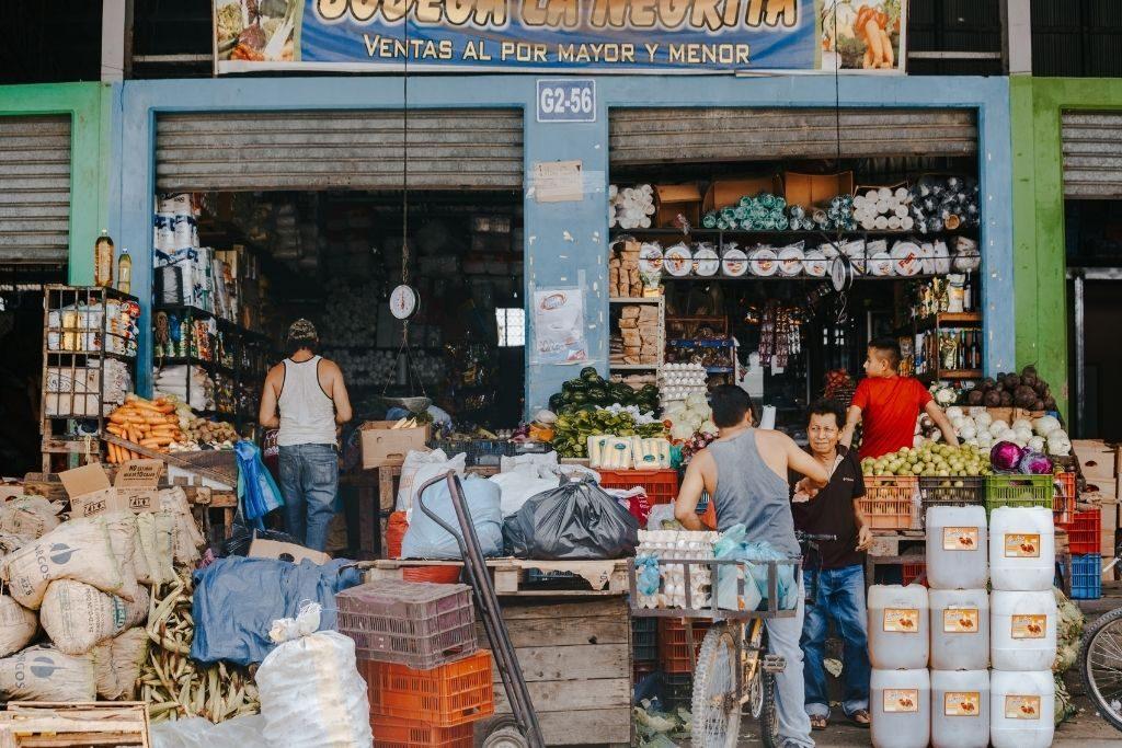 A market in a Honduran town