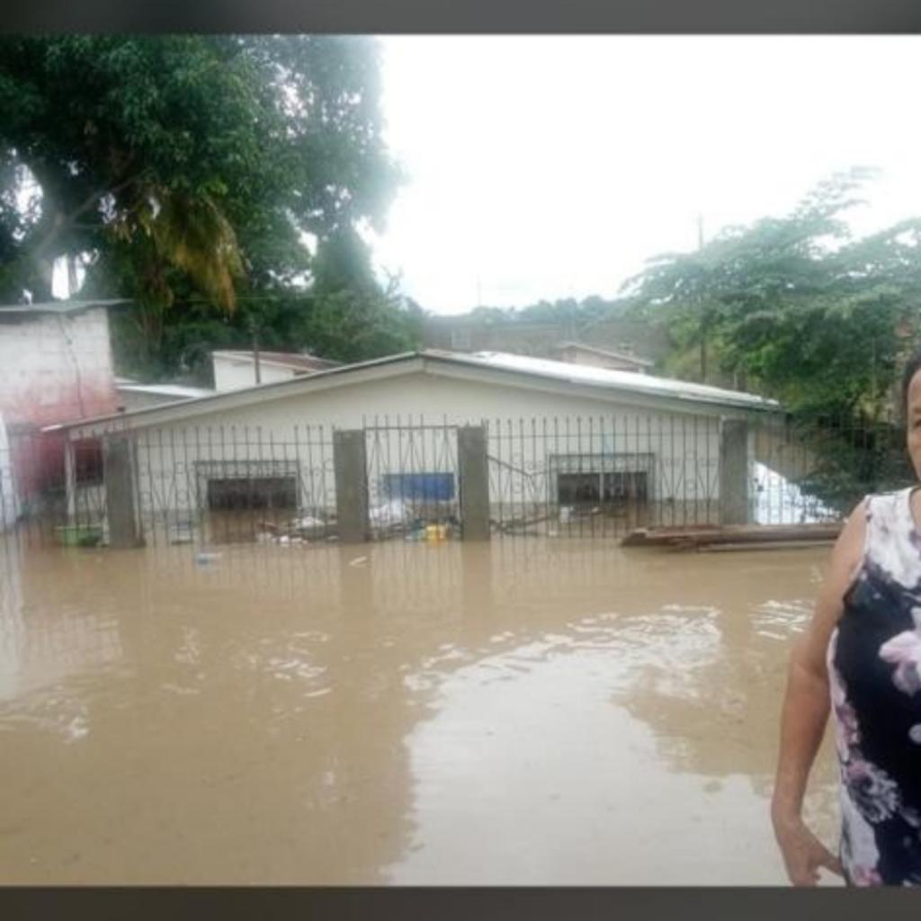 Flooded house in Honduras
